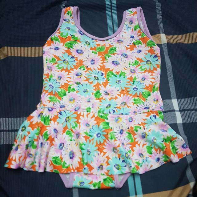 Baby Swimwear And Yellow Cute Skirt