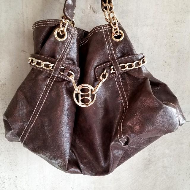 Bebe Brown Leather Tote Bag - Like NEW