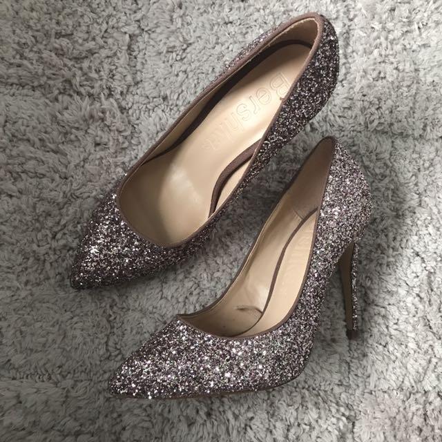 BERSHKA Sparkly Heels