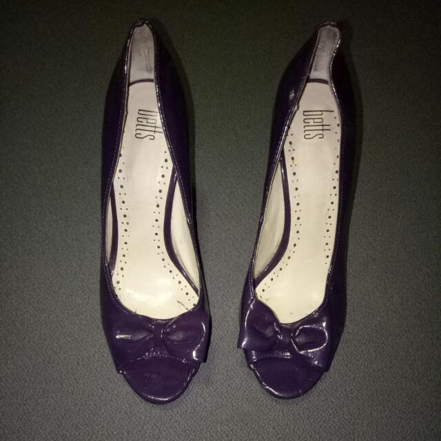 Betts Purple Bow Heels