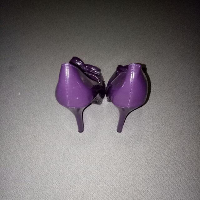 Betts Purple Bow Heels