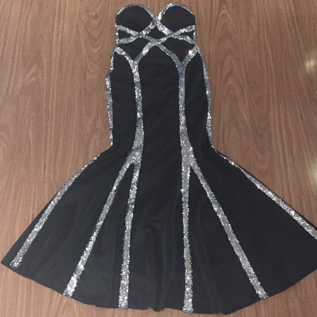 Black/silver Formal Dress