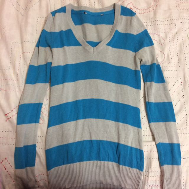 Blue And White Striped Long Sleeve
