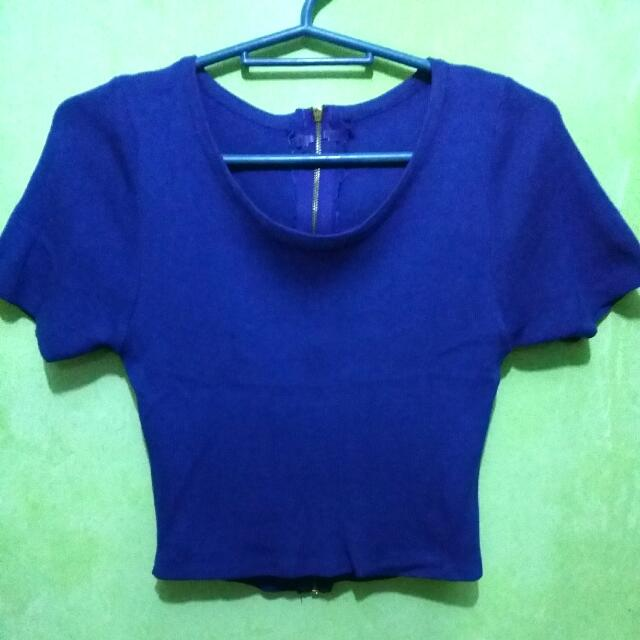 blue crop top (with zippered back)
