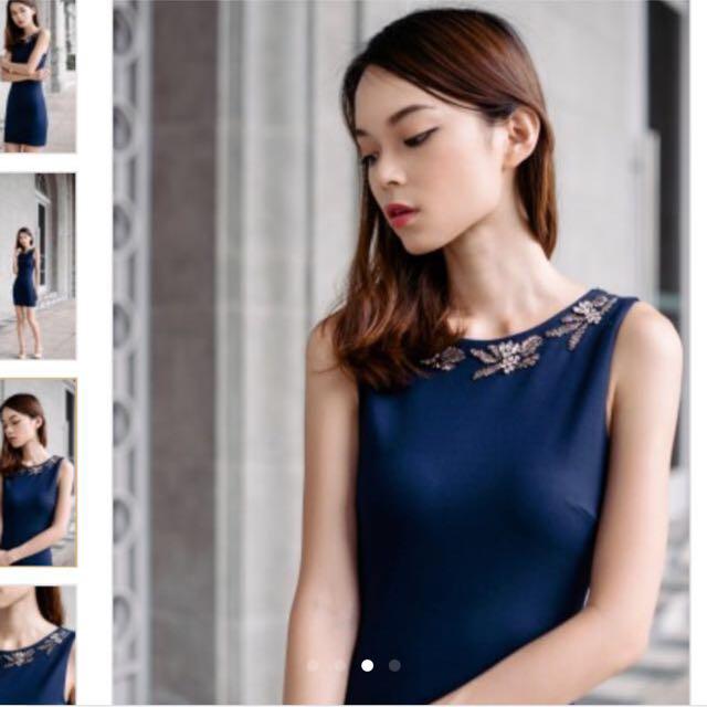 418fafcad4d BNWT Thread Theory Brilliant Beginnings Navy Blue Dress, Women's ...