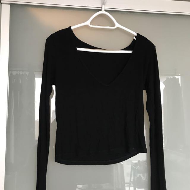 Brandy Melville Long Sleeve Black Top