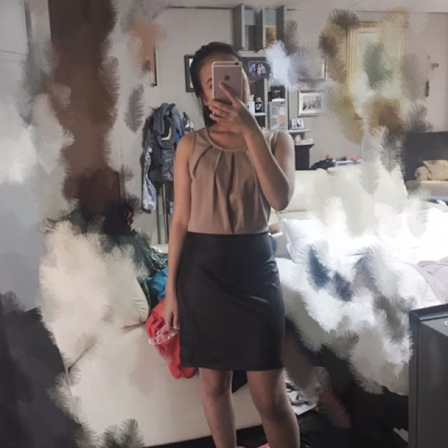Brown And Black Dresss