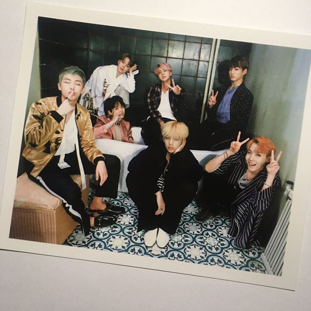 BTS Wings Album Group Polaroid Photocard