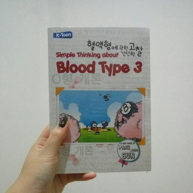 Buku Simple Thinking About Blood Type