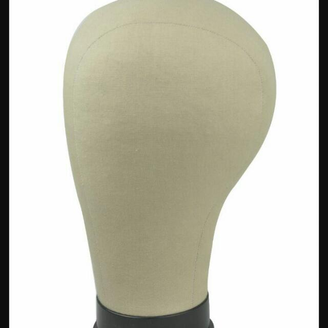 Canvas Wig Head For Wig Making/Styling