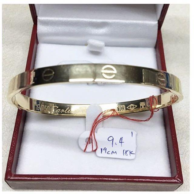 Cartier Inspired Love Bangle 18k Saudi Gold