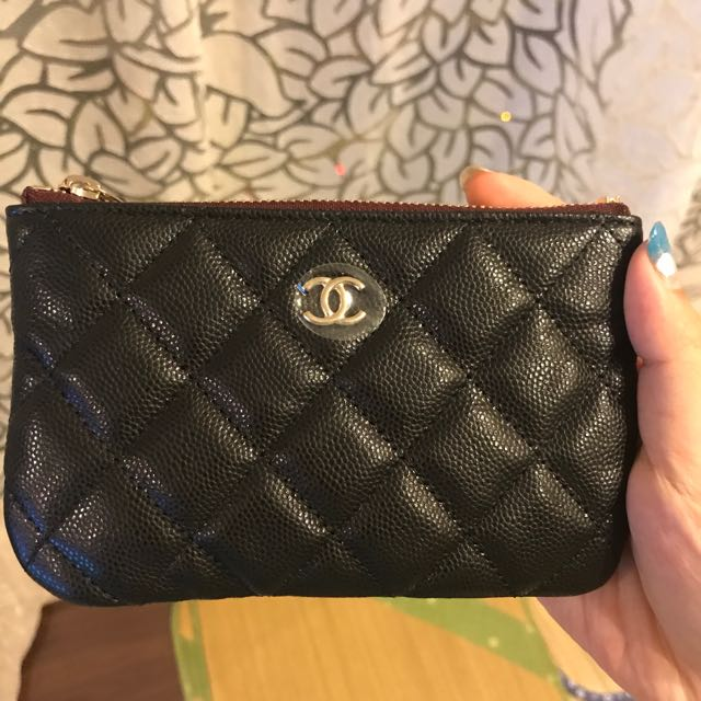 b31afe39ff5c Chanel Mini O Case Pouch Black Caviar GHW