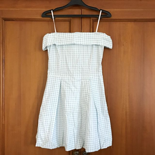 Checkered Sabrina Ocean Dress