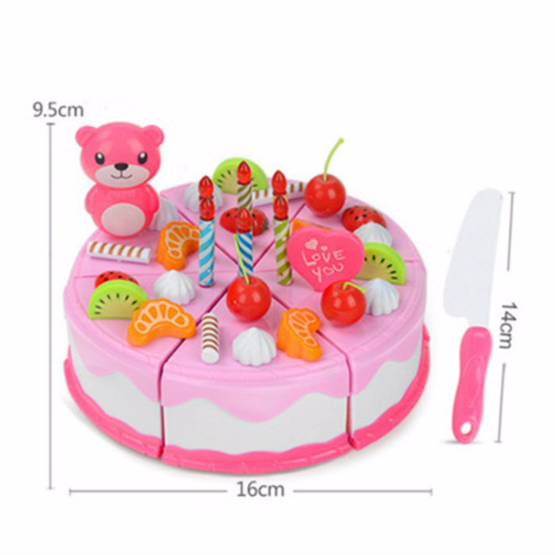 Diy Birthday Cake Cutting Kids Early Educational Pretend Toy Set