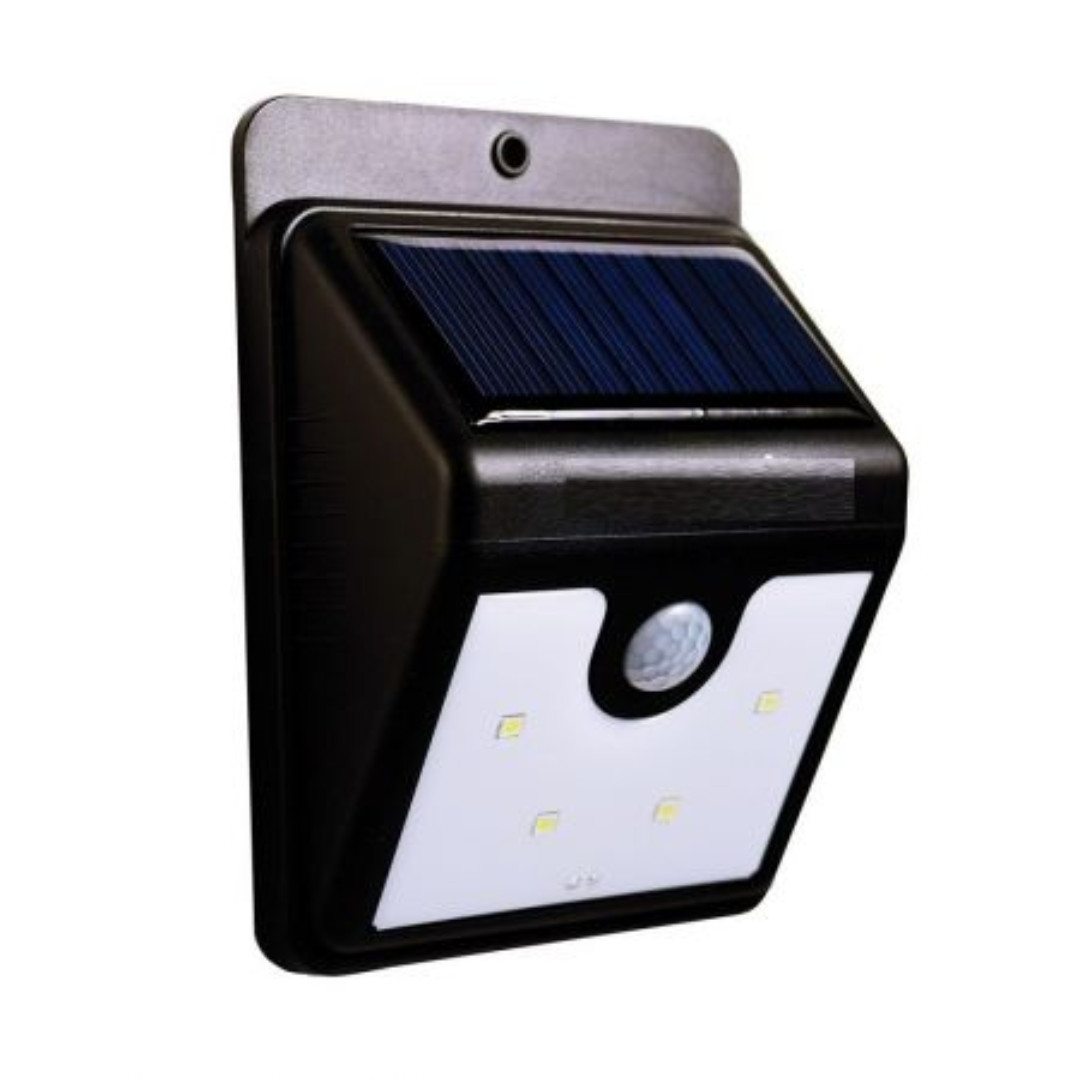 Ever Brite Motion-Activated Solar Power LED Light Outdoor (Black)