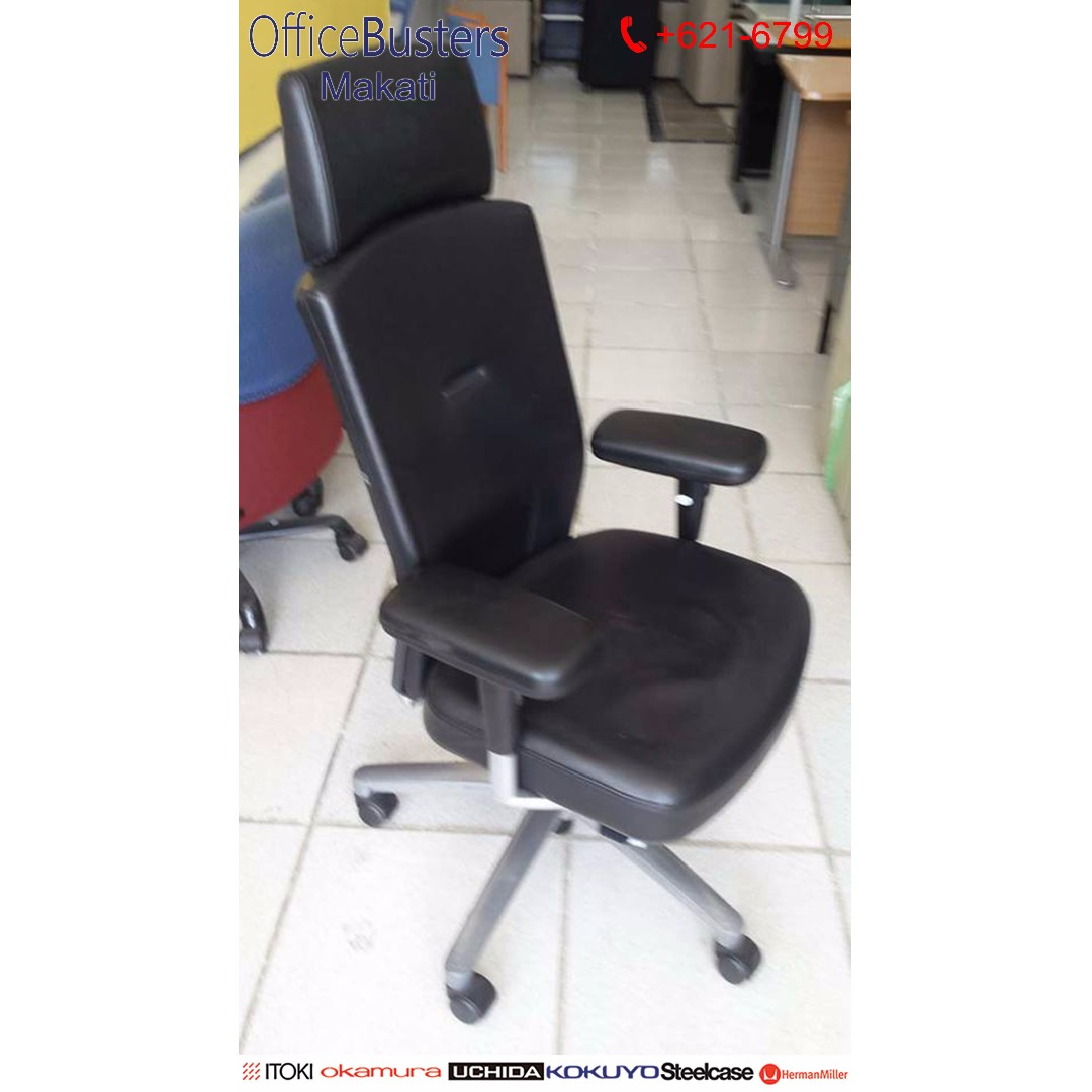 Executive Chair, Leatherette- Japan's Surplus Office Furniture Used