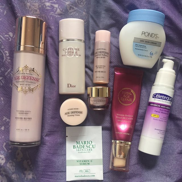Face (Mostly Anti Aging) Makeup Skincare Bundle