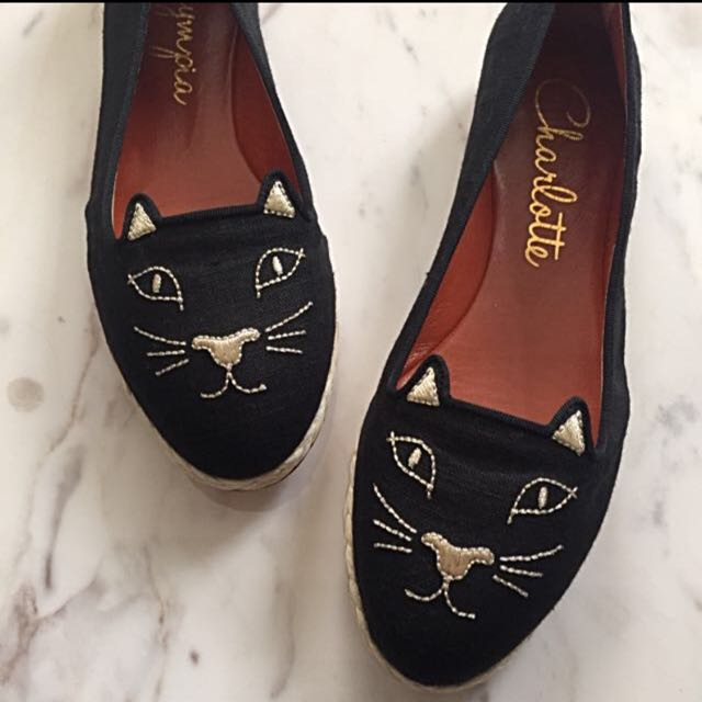 FAST SALE AUTHENTIC CHARLOTTE OLYMPIA Capri Kitty Flats