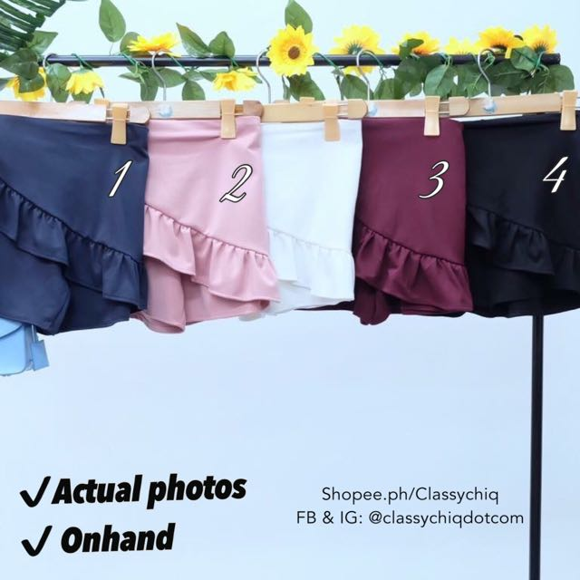 Fishtail shorts