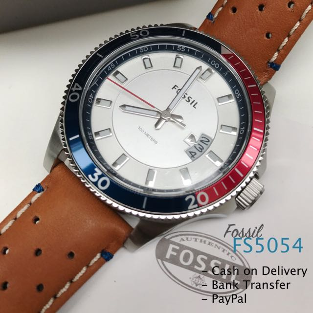 Fossil FS5054 Wakefield Brown Leather Date Watch For Men