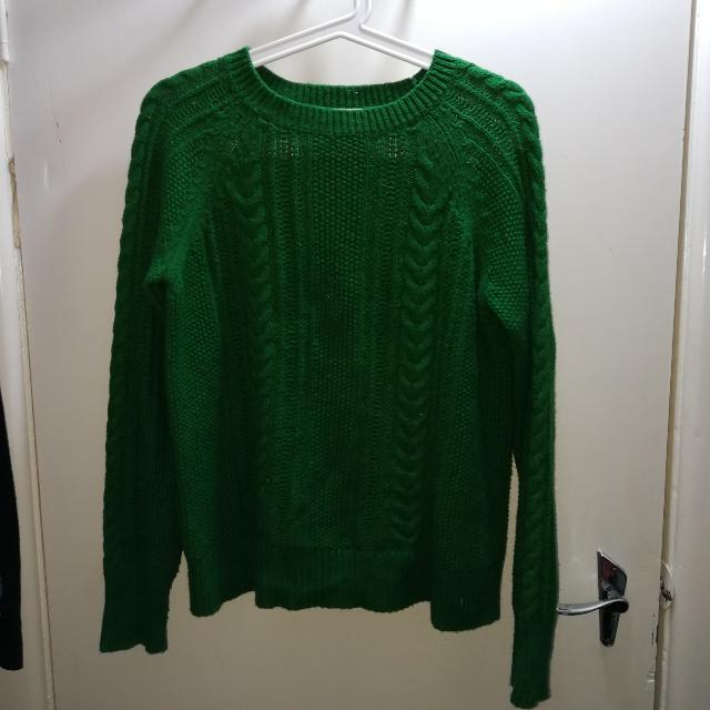 Green Zara Knit Jumper