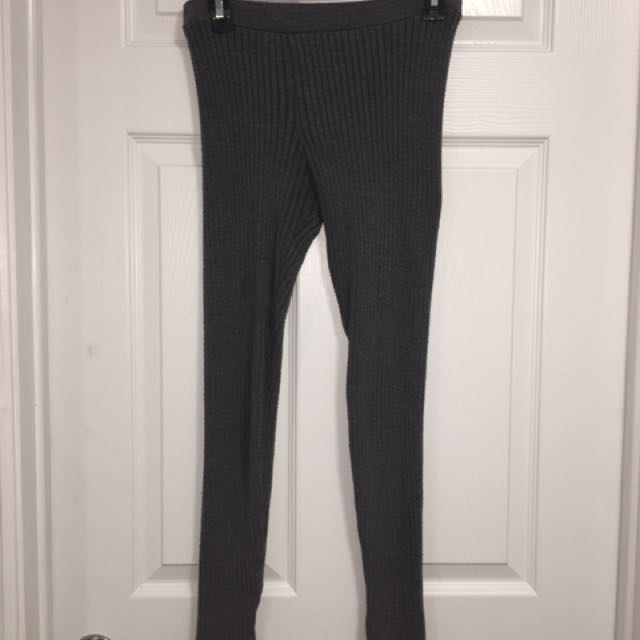 Grey Knit Leggings