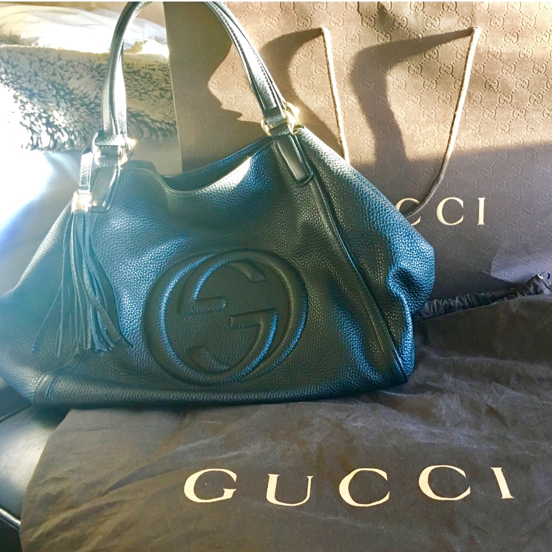 Gucci Calfskin Soho Shoulder Bag