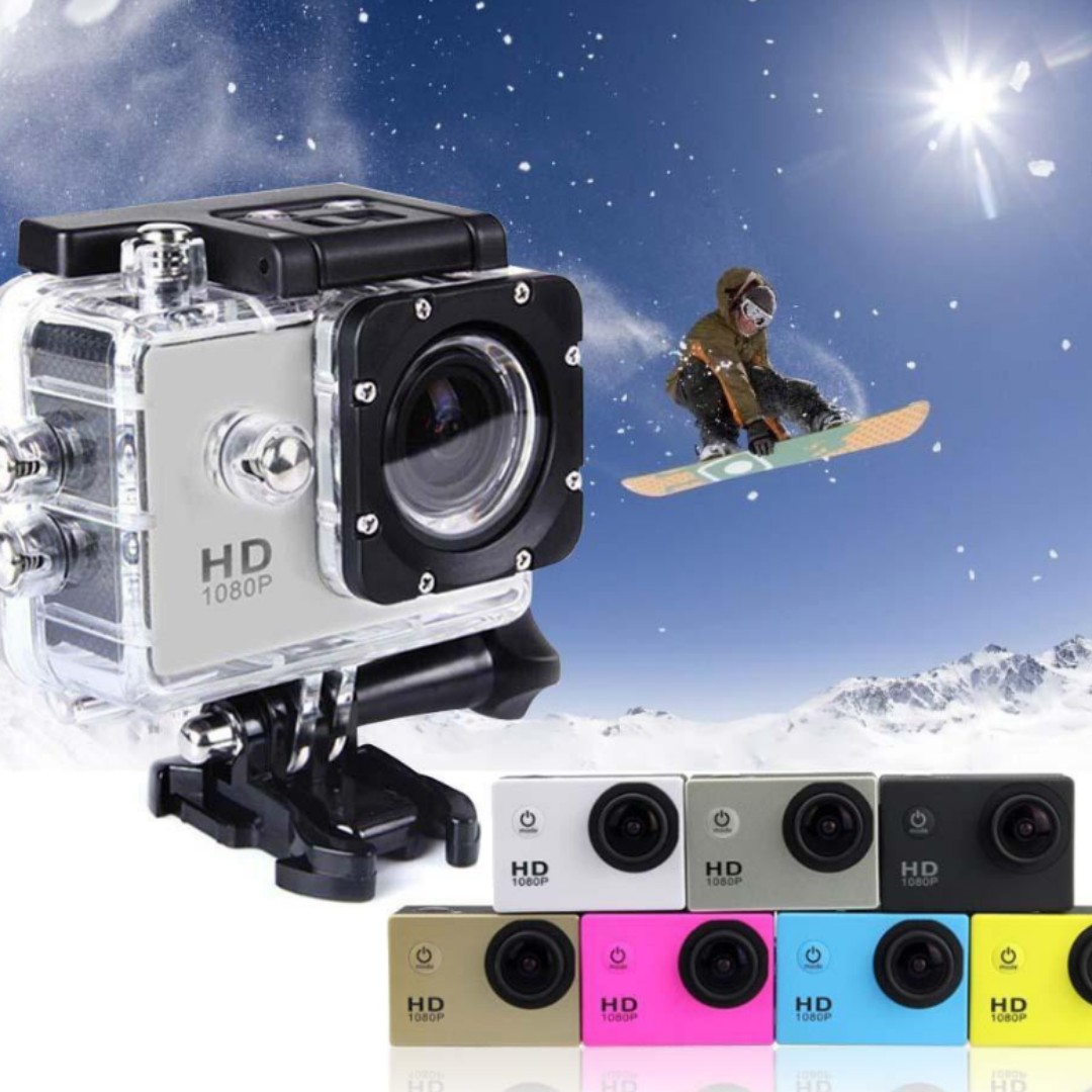 HD 1080P 12MP Cam 30M Waterproof Sports Action Camera DV DVR
