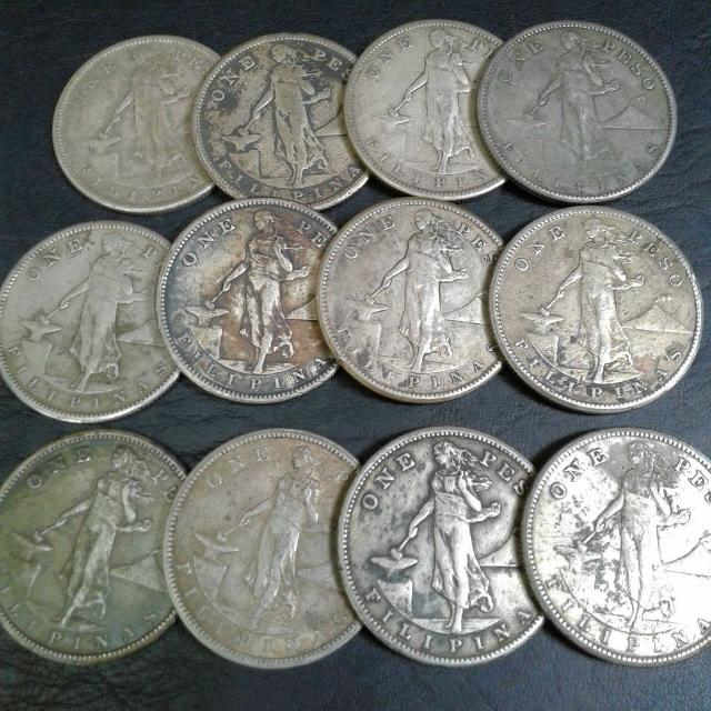 High Grade 1907s,1908s,1909s,1910s US_PHIL One Peso