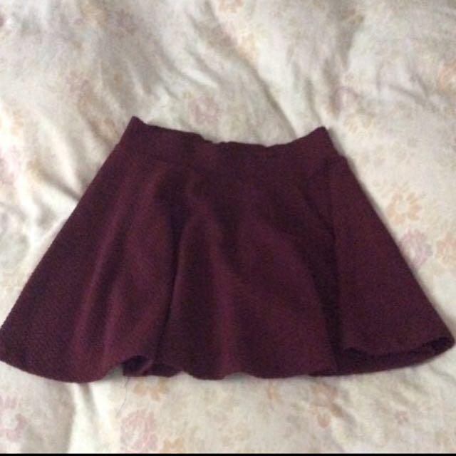 H&M- Textured Skater Skirt