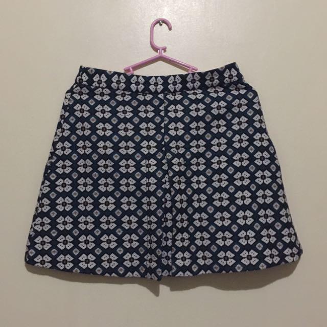 HW Printed Short Skirt