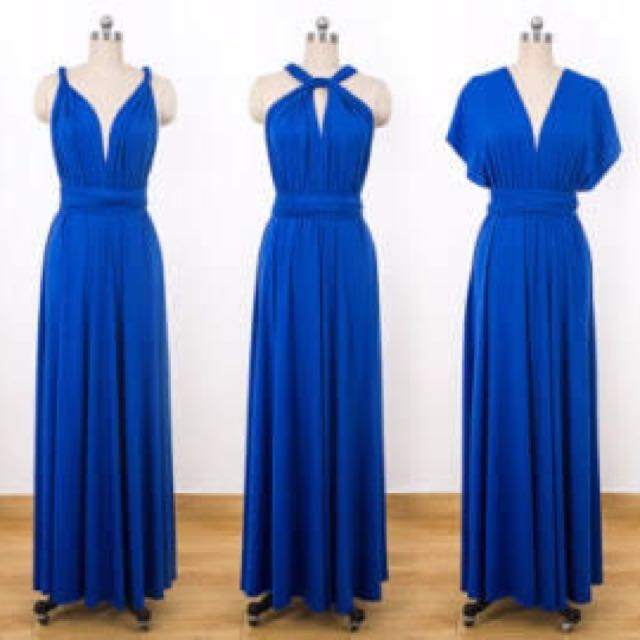 Infinity gown In Royal blue