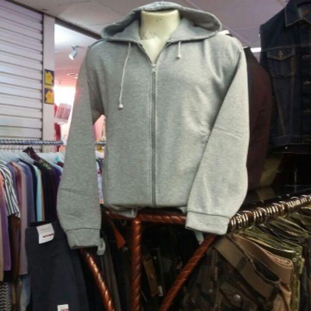 Jaket Sweater Bahan