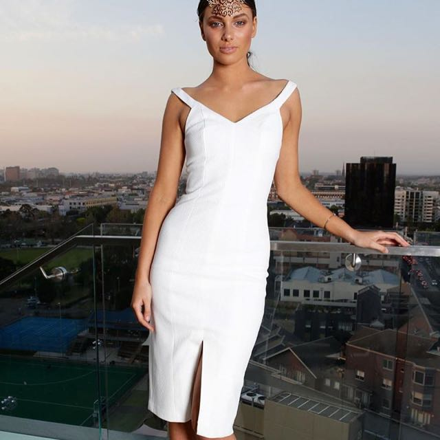 Kookai White Off Shoulder Dress