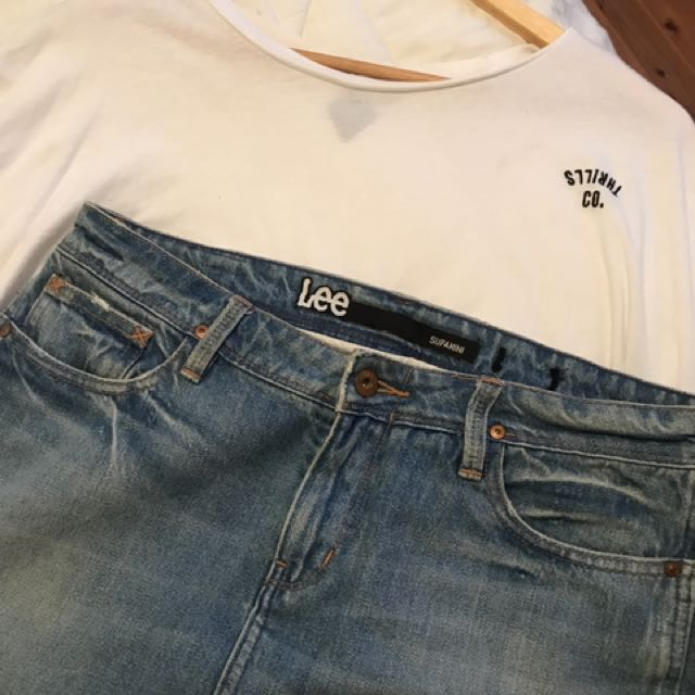 LEE Supamini Denim Skirt Size10-12