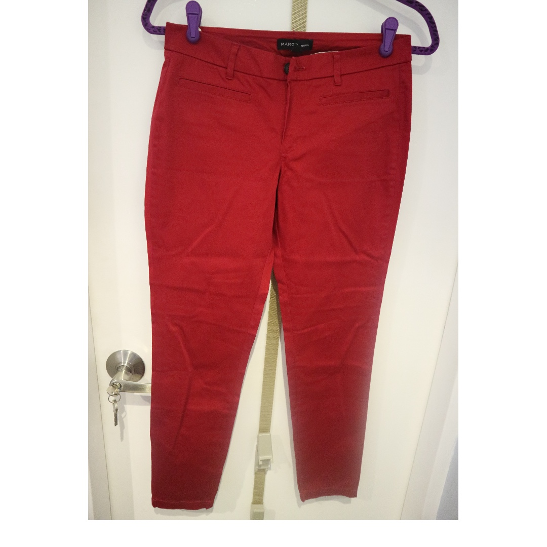 Mango red trousers/pants