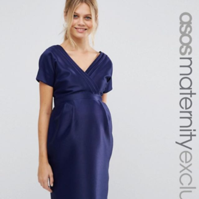Maternity Dress With Bow Back