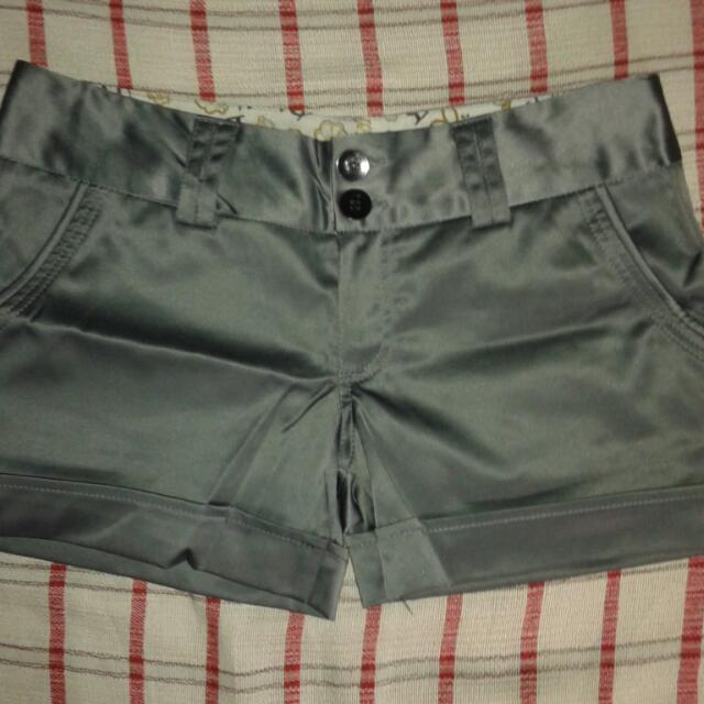 Metallic Gray Short