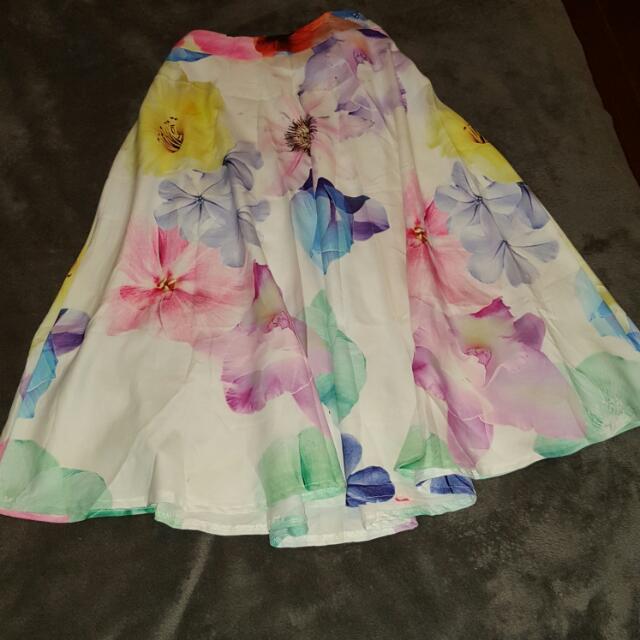 Morning Mist White/Floral Skirt