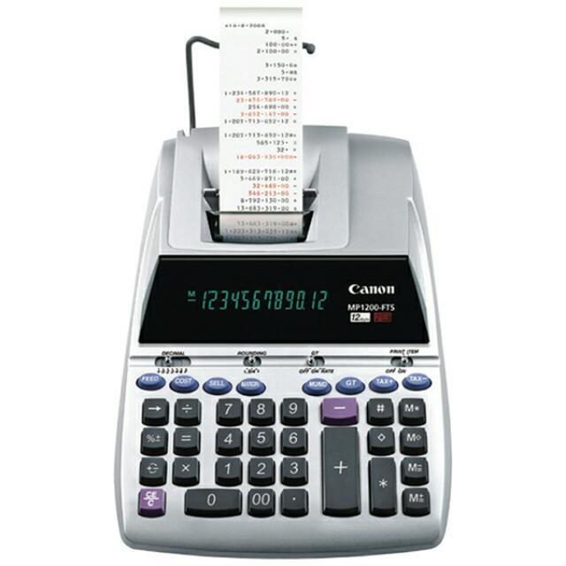 MP1200-FTS Canon printing calculator