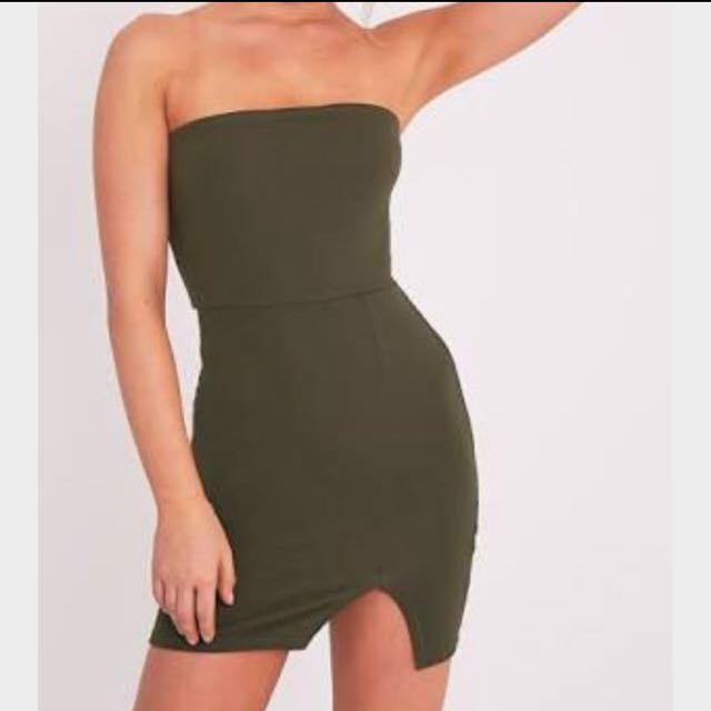 NEED TO SELL!! Khaki Green Bodycon Dress