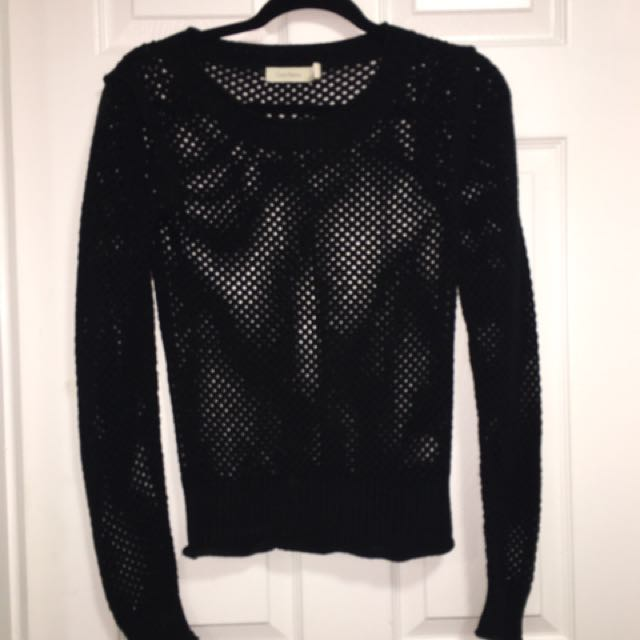 Black Mesh Sweater