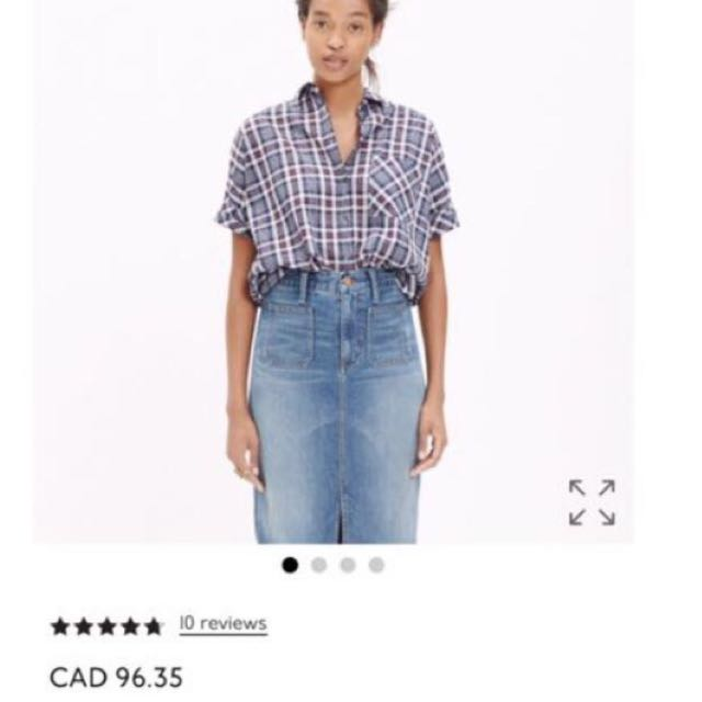 New $96 Madewell Courier Button Down Shirt