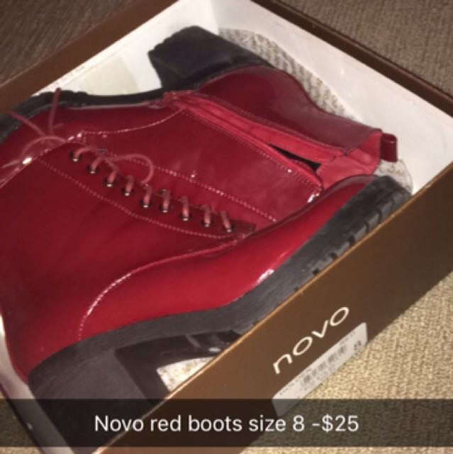 Novo Red Boots