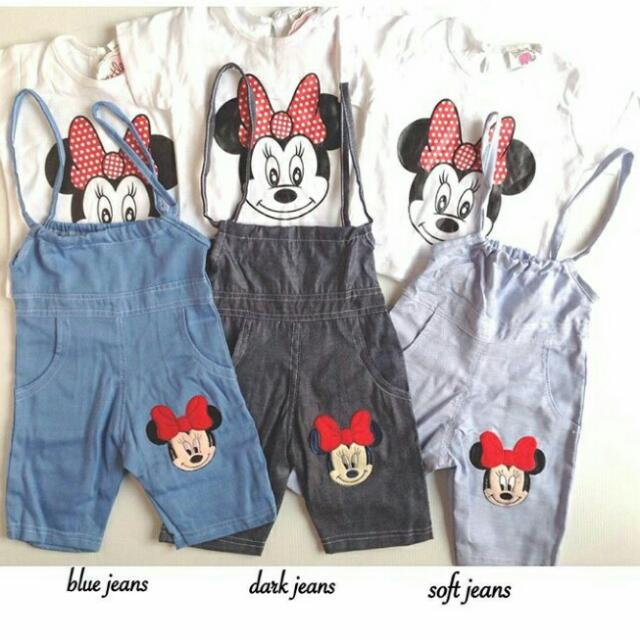 Overall Denim Minnie Mouse