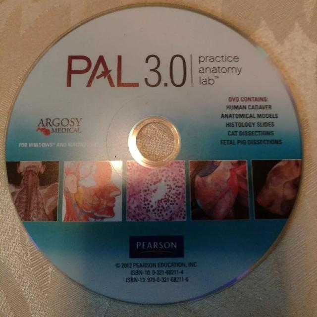 Pal 30 Practice Anatomy Lab Cd Disc For Windows And Macintosh
