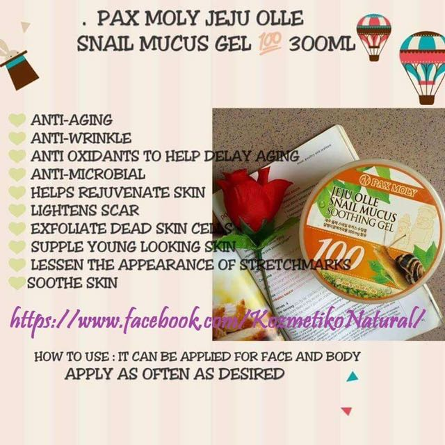 Pax Moly Jeju Olle Snail Mucus Gel