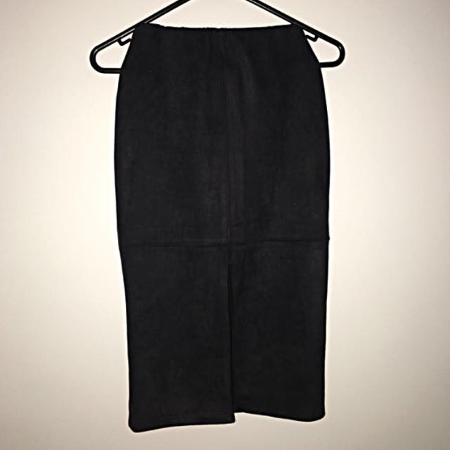 Pencil Suede Skirt