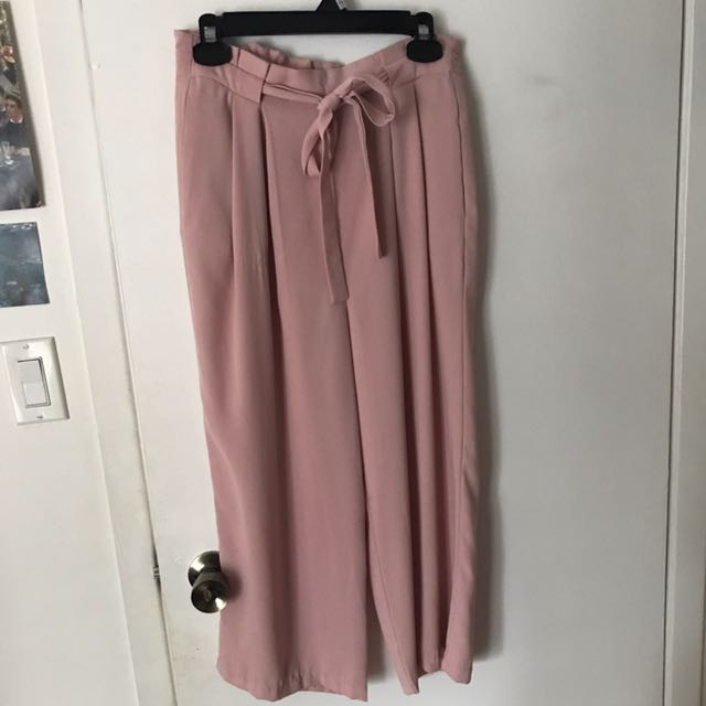 Pink ZARA culottes Size M