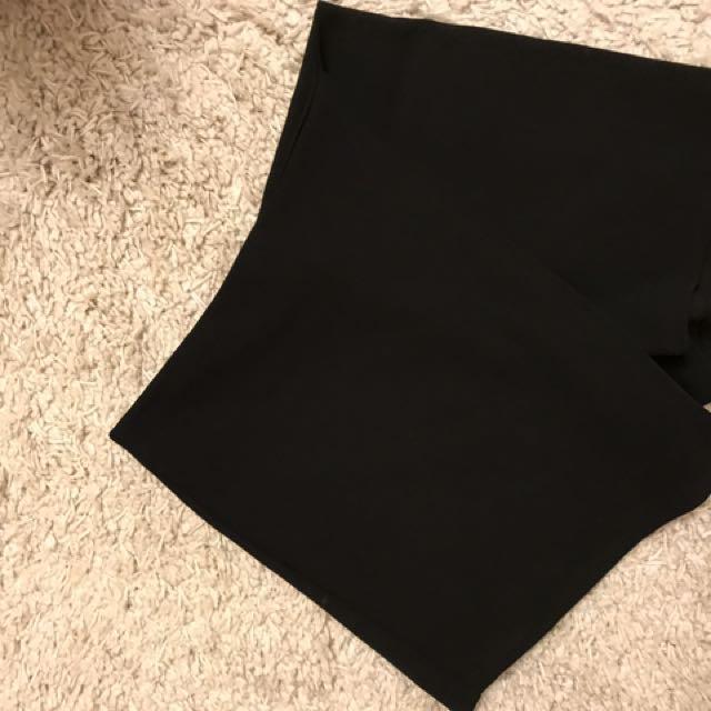 Plain Black Skort